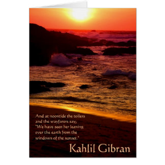 On Beauty - The Prophet by Kahlil Gibran Card