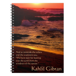On Beauty - The Prophet by Kahlil Gibran Notebook