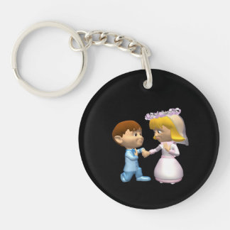 On Bended Knee Keychain
