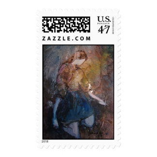 """On Bended Knee"" Postage Stamp"