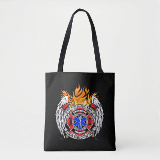 On Call for LIFE: Firefighter/Medic Emblem Tote Bag