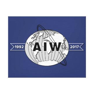 On Canvas-AIW 25th Anniversary Logo Canvas Print