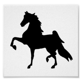 On Canvas Saddlebred silhouette Poster