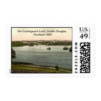 On Carlingwark Loch, Castle Douglas, Scotland 1905 Postage