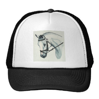 On Contact WHITE Dressage Horse Trucker Hat