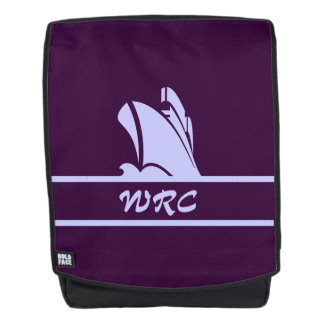 On Course in Purples Monogrammed Backpack