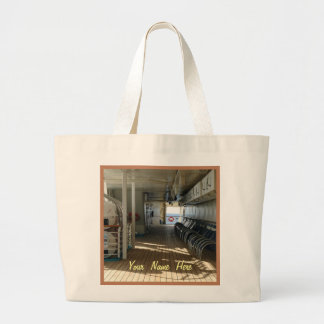 On Deck of Cruise Ship Personalized Large Tote Bag