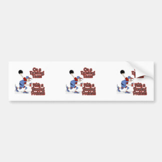 on drinking team with bowling problem car bumper sticker