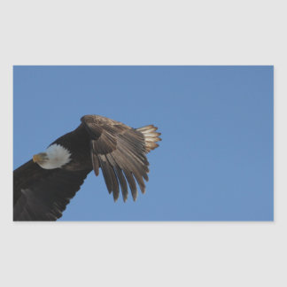 On Eagle Wings Rectangular Stickers