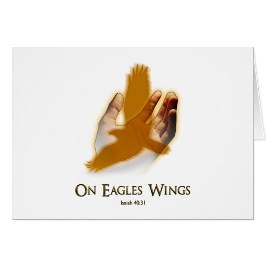 On Eagles Wings Card