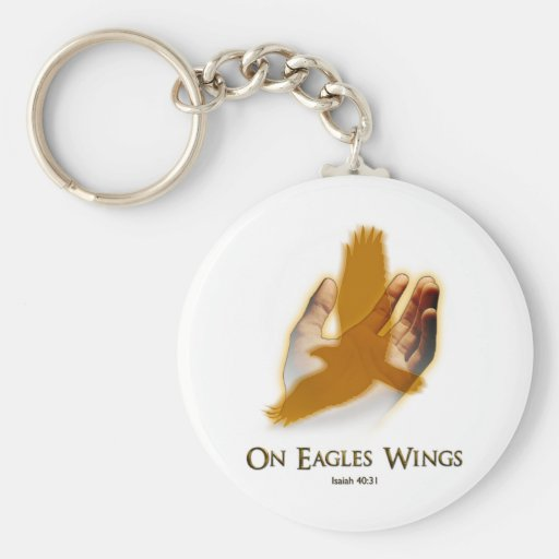 On Eagles Wings Keychains