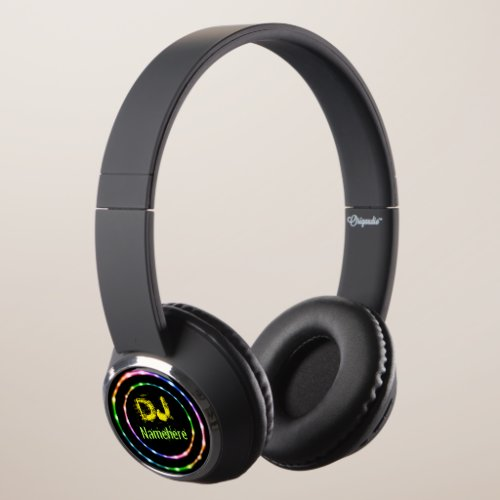 On-ear headphones! Cool DJ Add your Name! Headphones