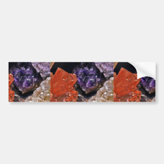 On Edge Crystal Patchwork Bumper Sticker