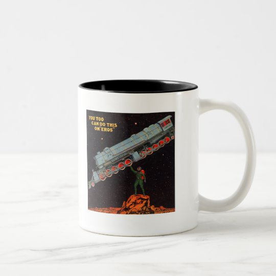 "On ""Eros"" Two-Tone Coffee Mug"