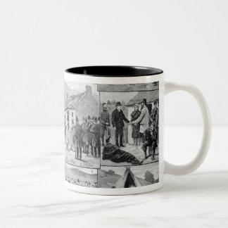 On Eviction Duty in Ireland Two-Tone Coffee Mug