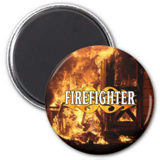 On Fire 2 Inch Round Magnet