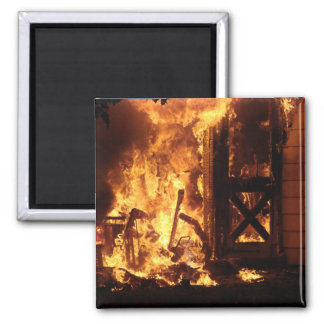 On Fire 2 Inch Square Magnet