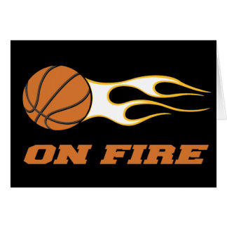 On Fire Basketball Card