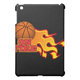 on fire basketball iPad mini cases