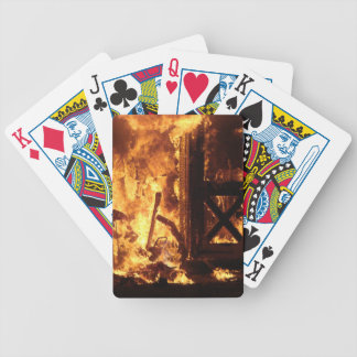 On Fire Bicycle Playing Cards