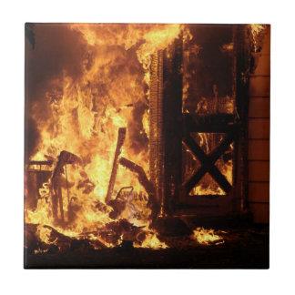 On Fire Ceramic Tile