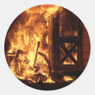 On Fire Classic Round Sticker