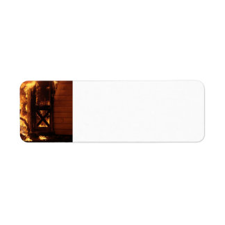 On Fire Custom Return Address Label