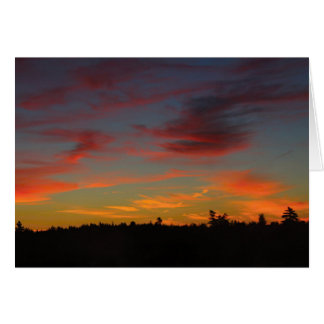 On Fire Dawn Greeting Cards