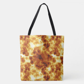 On Fire Fiery Hot Flames Design Tote Bag
