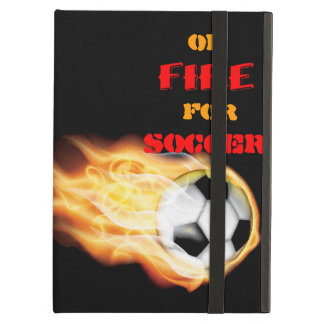 On Fire for Soccer iPad Folio Case