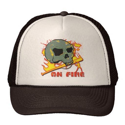 ON FIRE TRUCKER HATS