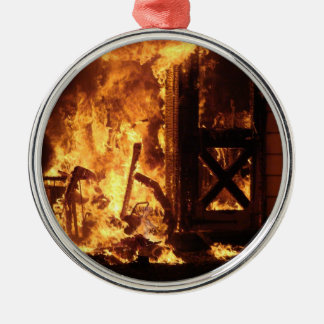 On Fire Metal Ornament