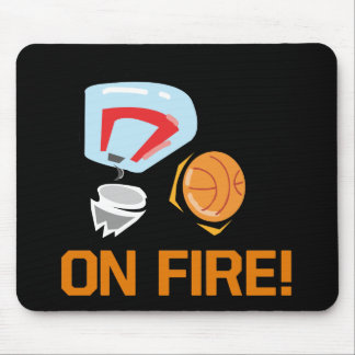 On Fire Mouse Pad