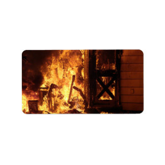 On Fire Personalized Address Labels