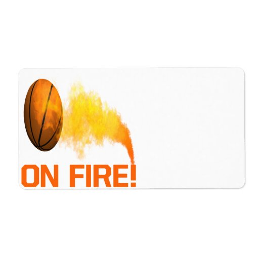 On Fire Personalized Shipping Label