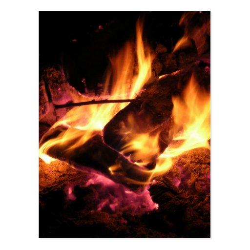 On Fire Postcard
