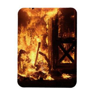On Fire Rectangular Photo Magnet