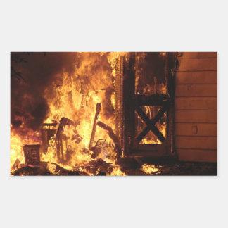 On Fire Rectangular Sticker