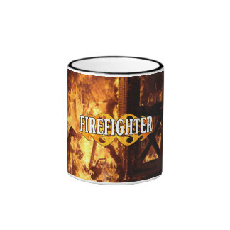 On Fire Ringer Coffee Mug