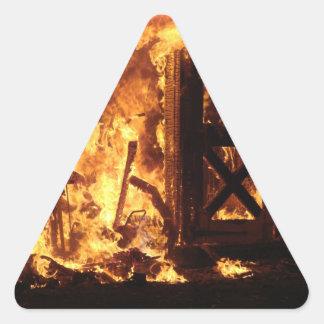 On Fire Triangle Sticker