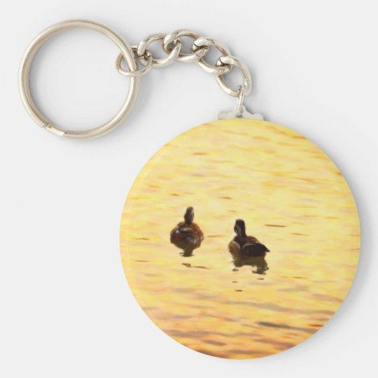 On Golden Duck Pond Keychain