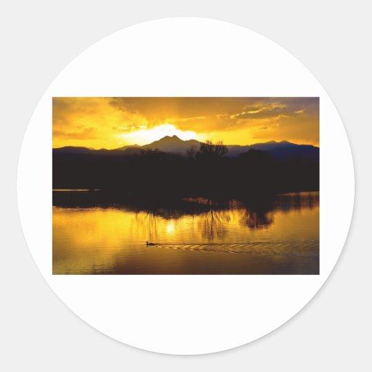On Golden Ponds Classic Round Sticker