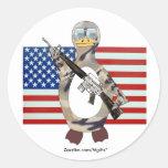 On Guard Round Sticker