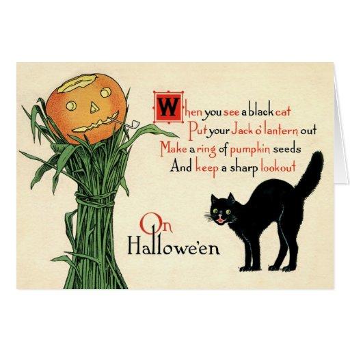 On Halloween Vintage Greeting Card