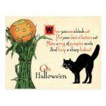 On Halloween Vintage Postcard