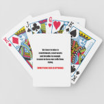 """On """"Having"""" to do things Poker Deck"""