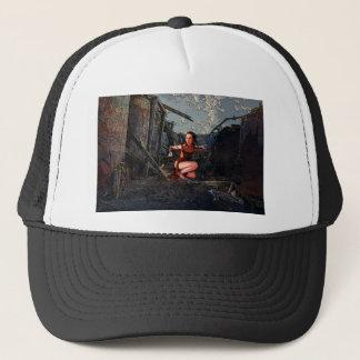 ON HER GUARD TRUCKER HAT