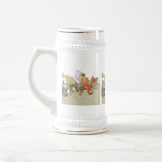 On His Donkey Beer Stein