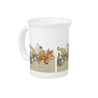 On His Donkey Pitcher