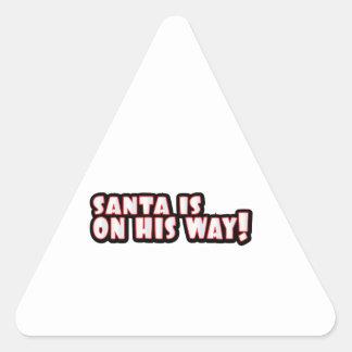 On His Way Triangle Sticker
